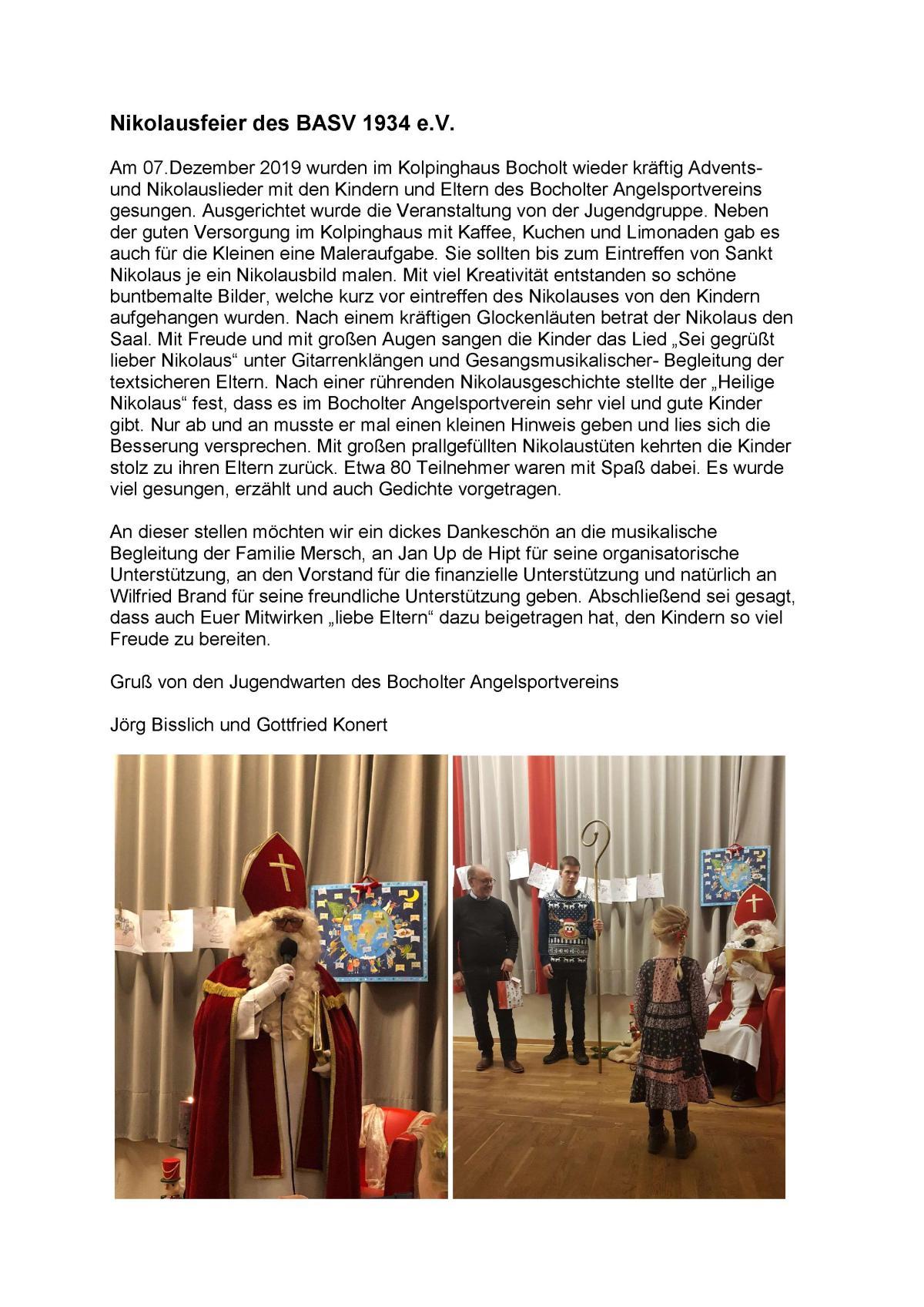 Nikolausbericht 2019 BASV